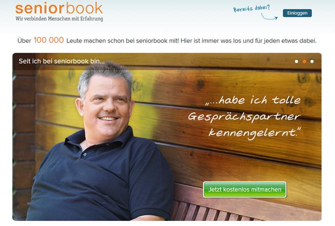 Startseite von Seniorbook.de