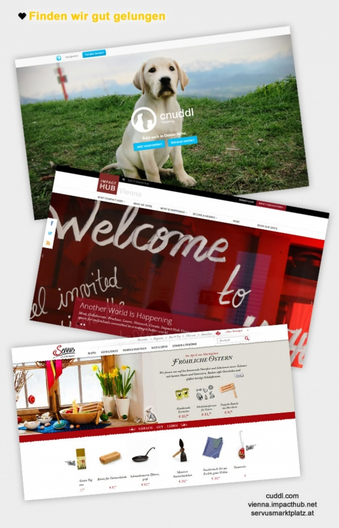 Webdesign Trends 2014 - Seiten, die wir mögen