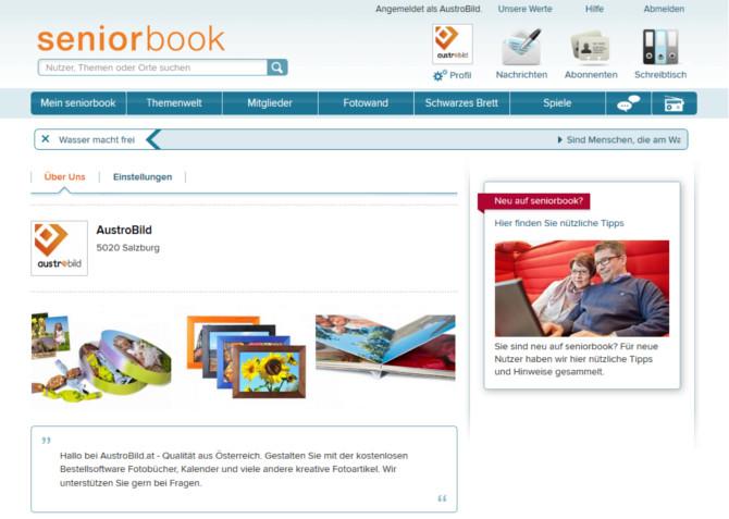 Unternehmensseite von AustroBild.at auf Seniorbook.de