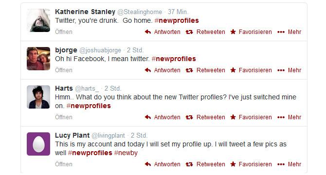 Reaktionen auf das Twitter-Redesign - nicht unbedingt positiv