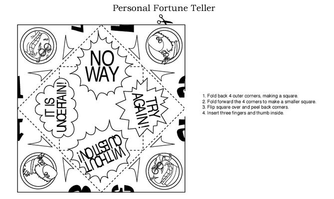 Paper Fortune Teller - Social Media