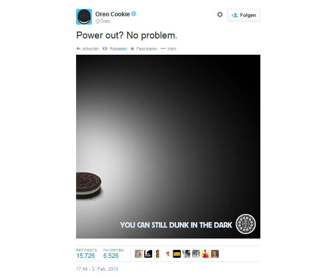 Real Time Marketing Oreo