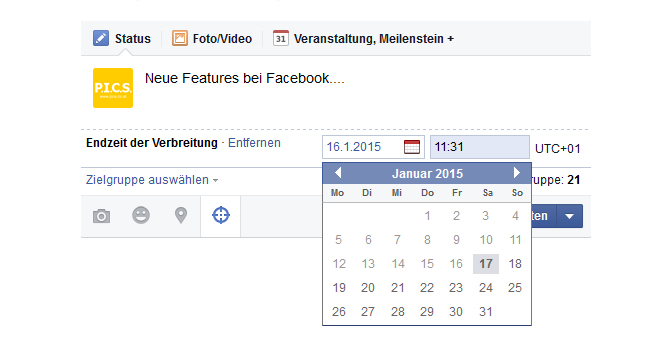 PICS-News - neue Features bei Facebook