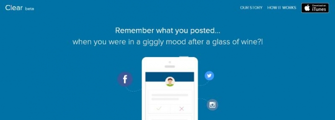 Clear...your social media profile