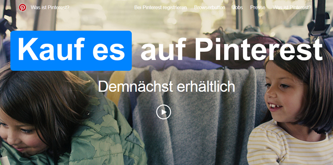PICS News - Kauf es Button bei Pinterest