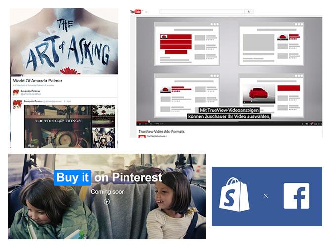 Twitter, Facebook und Instagram, YouTube und Pinterest erweitern ihr eCommerce-Angebot