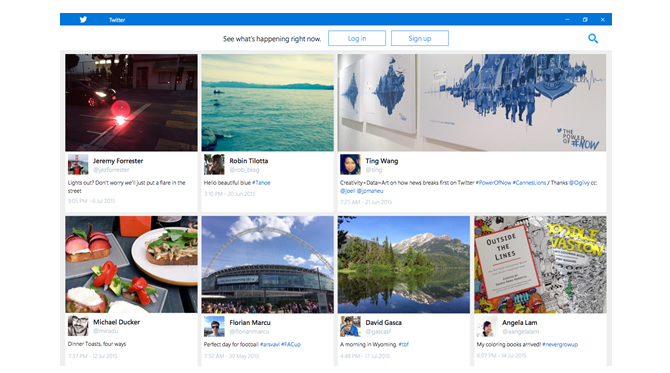 Windows 10 - neue Twitter App