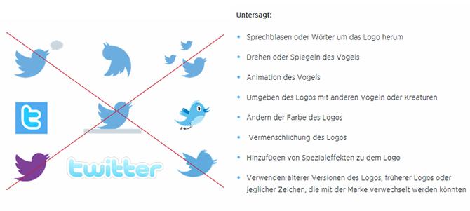 Twitter - Logo Nutzungsrichtlinien