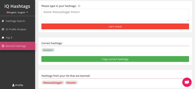 PICS Blog - gebannte Hashtags finden - Tool Tipp