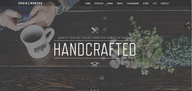 Website Grain & Mortar