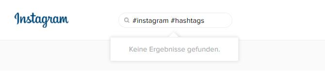 Instagram Hashtag Suche