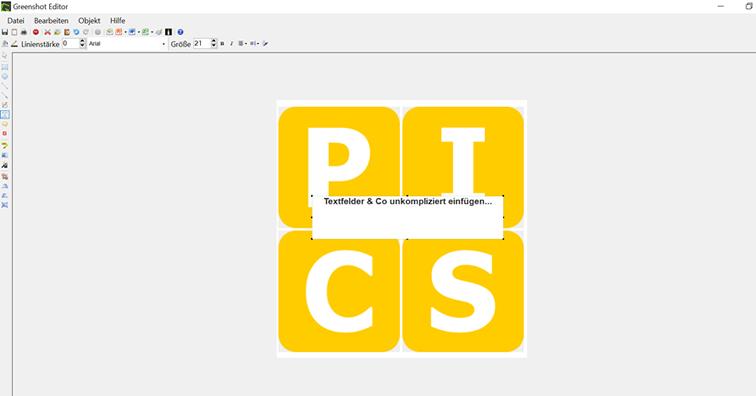 PICS Blog - Screenshot Greenshot-Editor